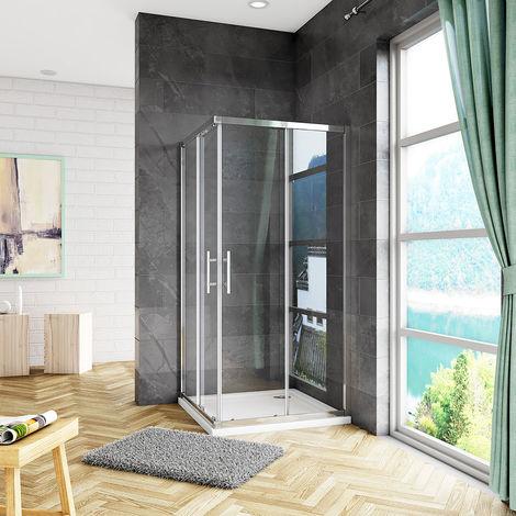 Aica 1850H Corner Entry Shower Enclosure wet room Cubicle Sliding Door New Trays