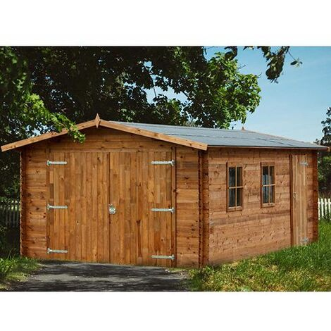 Garage Artemis - bois marron - 19 m²