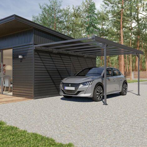 Carport Adossé Aluminium 14,7 m2 Trigano MISTRAL WALL