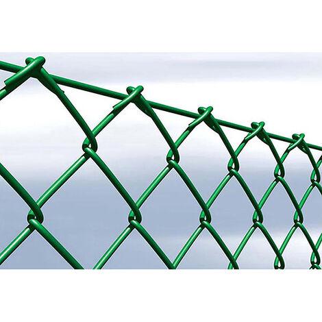 Enrejado plastificado verde simple torsion 17x50 mm 75 cm