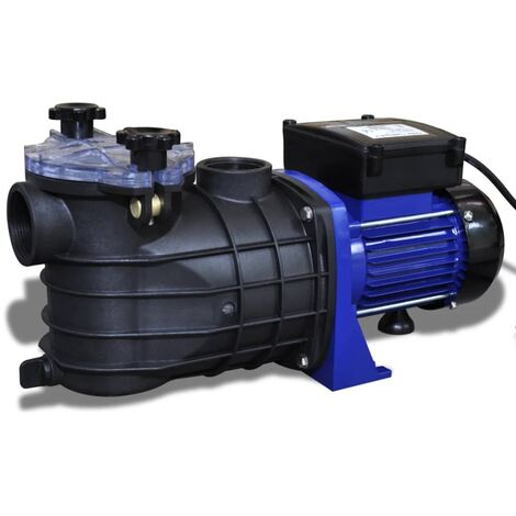 vidaXL Schwimmbadpumpe mit Sieb-Filter Elektrisch Umwälzpumpe Poolpumpe Pumpe Schwimmbad Swimmingpool Filterpumpe Blau 500/800/1200W