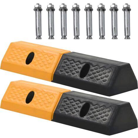 vidaXL Parking Blocks 2 pcs Rubber 49x15x9 cm