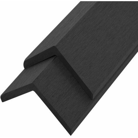 vidaXL 5 pcs Decking Angle Trims WPC 170 cm Black - Black