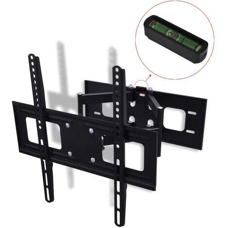 """vidaXL Double-armed Tilt & Swivel Wall Mounted TV Bracket 3D 400x400mm 32""""-55"""" - Black"""