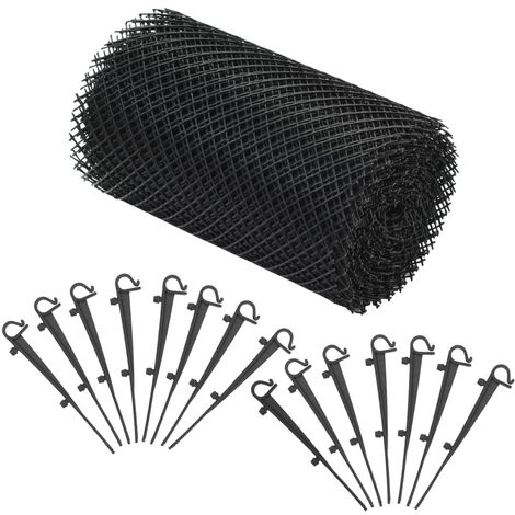 4 Piece Gutter Mesh with Clips HDPE 1.08 ㎡