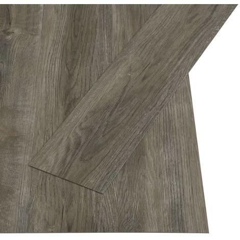 vidaXL Self-adhesive Flooring Planks 4.46 m² 3 mm PVC Grey and Brown - Grey