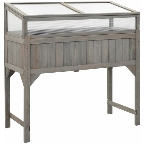 Raised Garden Bed with Greenhouse 120x54x120 cm Fir Wood