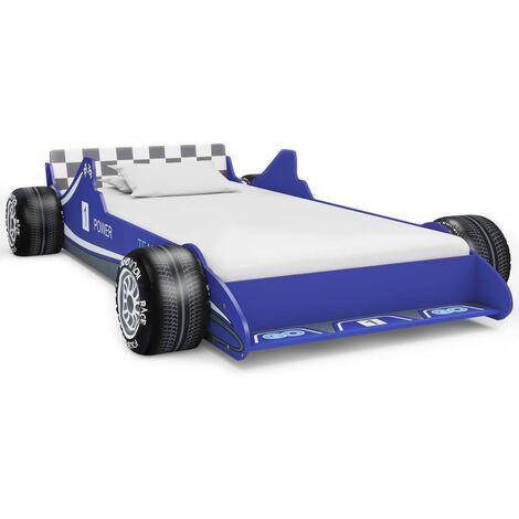 vidaXL Children's Race Car Bed Toddler Beds Kid's Bed Race Car Design Bed Comfortable Safe Single Bed Bedroom Furniture 90x200cm Red/Blue