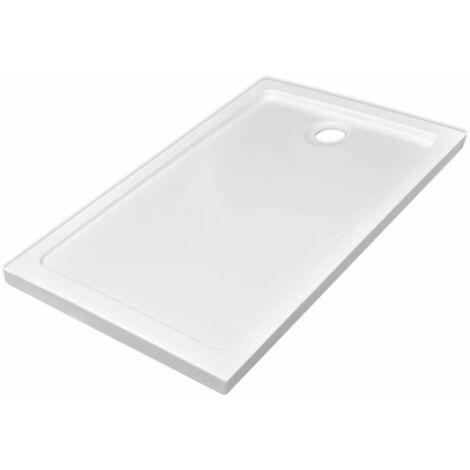 Rectangular ABS Shower Base Tray White 70 x 120 cm