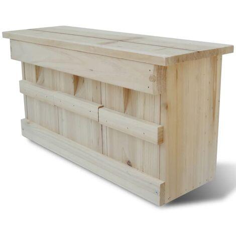 Sparrow Nesting Box 44 x 15.5 x 21.5 cm - Brown