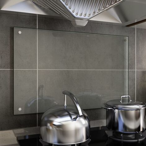 Kitchen Backsplash Transparent 80x50 cm Tempered Glass