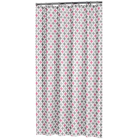 Sealskin Shower Curtain Diamonds 180x200cm Polyester Pink - Pink