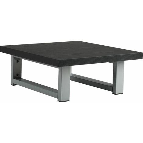 Bathroom Wall Shelf for Basin Black 40x40x16.3 cm