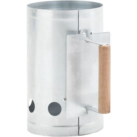 Charcoal Grill Chimney Starter Galvanised Steel