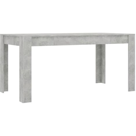 Dining Table Concrete Grey 160x80x76 cm Chipboard