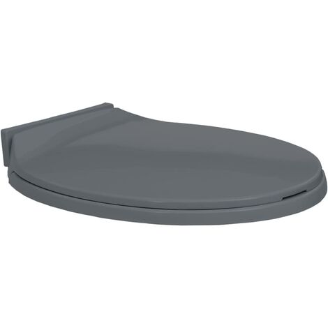 Soft-Close Toilet Seat Grey Oval