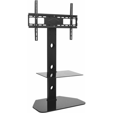 """vidaXL Swivel TV Floor Stand Mount 32""""-70"""" with Shelf - Black"""