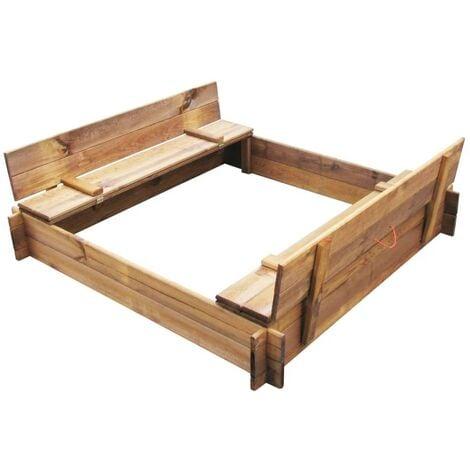 vidaXL Sandbox Impregnated Wood Square - Brown