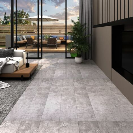 vidaXL PVC Flooring Planks 5.26 m² 2 mm Earth Grey - Grey
