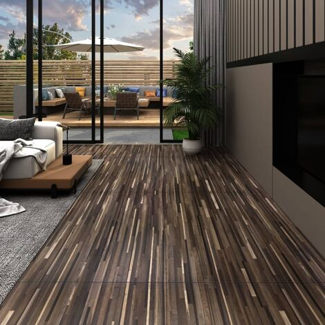 PVC Flooring Planks 5.26 m² 2 mm Striped Brown