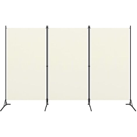3-Panel Room Divider White 260x180 cm