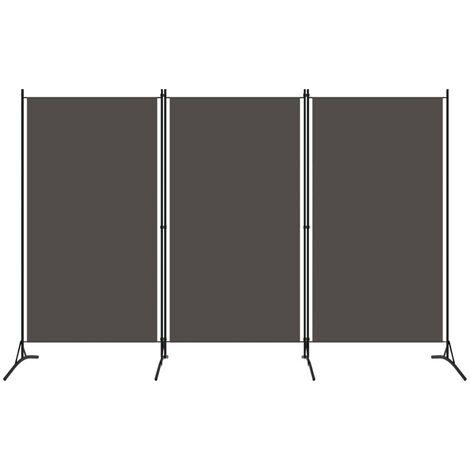 3-Panel Room Divider Anthracite 260x180 cm