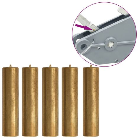 Shear Pins for 1600/3200 kg Rope Hoist 5 pcs Brass