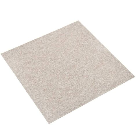 Carpet Floor Tiles 20 pcs 5 m² 50x50 cm Light Beige