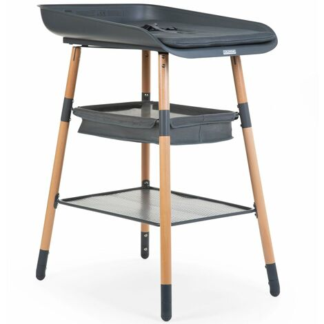 CHILDHOME Changing Table Evolux Anthracite and Natural - Multicolour