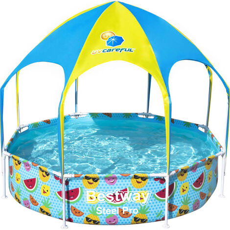 Bestway Steel Pro UV Careful Above Ground Pool for Kids 244x51 cm - Multicolour