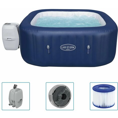 """Bestway Lay-Z-Spa Inflatable Hot Tub """"Hawaii AirJet"""" - Blue"""
