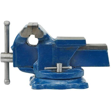 VOREL Bench Vice Swivel Base Table Jaw Clamp Workshop Garage Metal 100mm/125mm