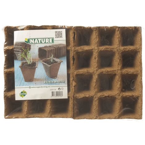 Nature Peat Pots 144 pcs 4x4x5 cm 6020128