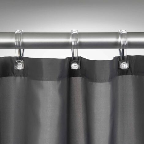 Sealskin Shower Curtain Madeira Waterproof Bathroom 120cm/240cm White/Grey