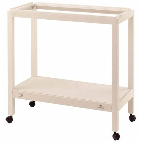 Ferplast Birdcage Stand for Giulietta 4/5/6 White Sturdy Birdcage Accessory Wooden Living Shelter with Wheels Indoor Home Multi Sizes