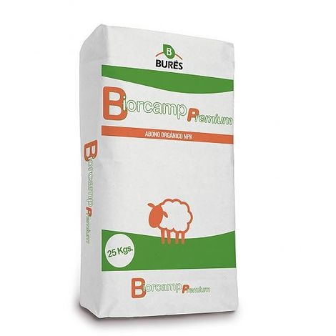 BIORCAMP PREMIUM PELLETS - Abono orgánico estiércol de oveja - 25 kg