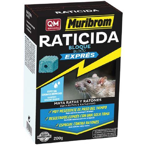 Muribrom Bloque Exprés Raticida de Alta Efectividad - 200 gr
