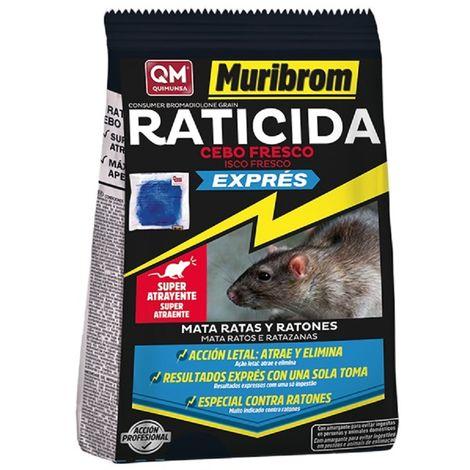 Muribrom Quimunsa Raticida Cebo Fresco EXPRÉS 1 kg Veneno Ratones, Ratas y roedores (Brodifacoum)
