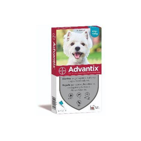 Advantix Pipetas Anti Parásitos, Pulgas y Garrapatas para Perros Pequeños (4-10 kg) - 4 Pipetas x 1 ml