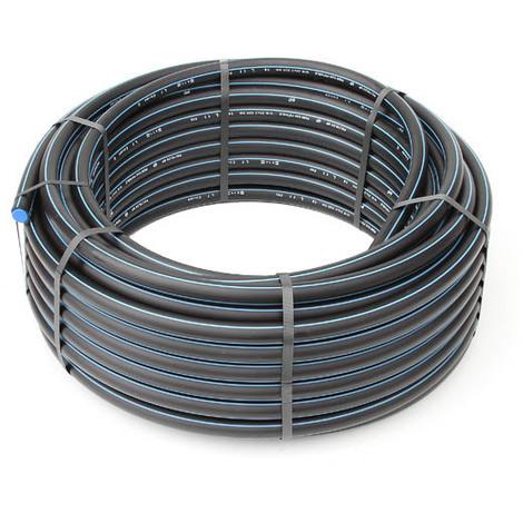 Tuyau SR-HD PE 100 N-F bande bleu 20bar-Ø25x3,0-50,00ml