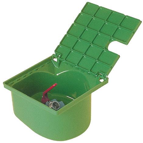 Bouche d'arrosage carrée à robinet 1/4 de tour vert