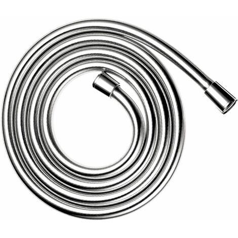 Flexible de douche effet métalique - chrome - 15x21
