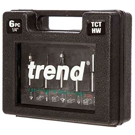 Trend TCT Router Starter Cutter Set with 1/4-Inch Shank (6-Piece)