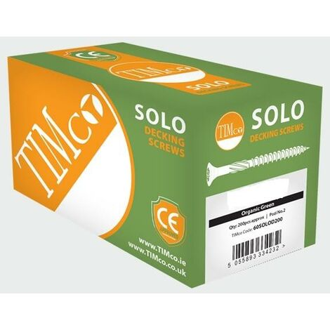 TIMco 4.5 x 60 Solo Green Countersunk Decking Screw Qty 200