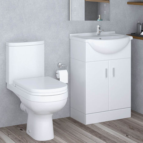 Lima Toilet & 550mm Vanity Unit Cloakroom Suite