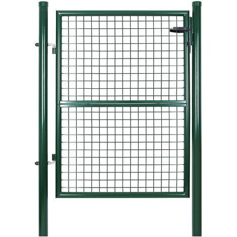 Cancelletto Giardino 125 x 106cm Cancello Pedonale Barriera Modulabile GGD175G