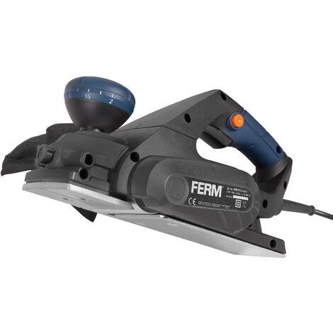 FERM PPM1010 Rabot électrique 650W - Réglage de la profondeur - Incl. guide parallèle et sac à poussière