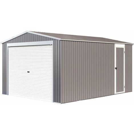 """Garage métal """"Nevada"""" avec porte roulante - 15,61m²"""