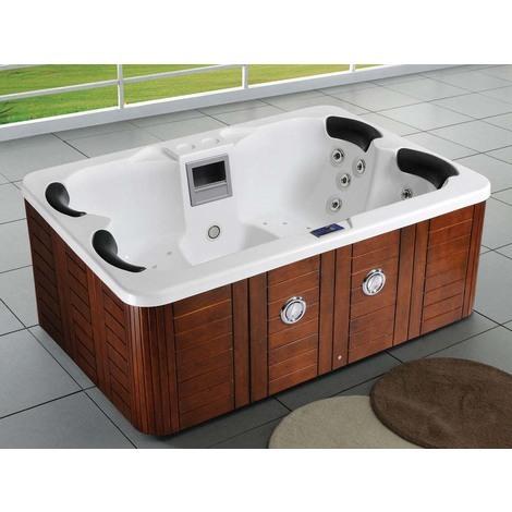 """Spa """"Fidji"""" 4 places - Cuve blanc - système Balboa + Bluetooth intégré - 210x152x81 cm"""