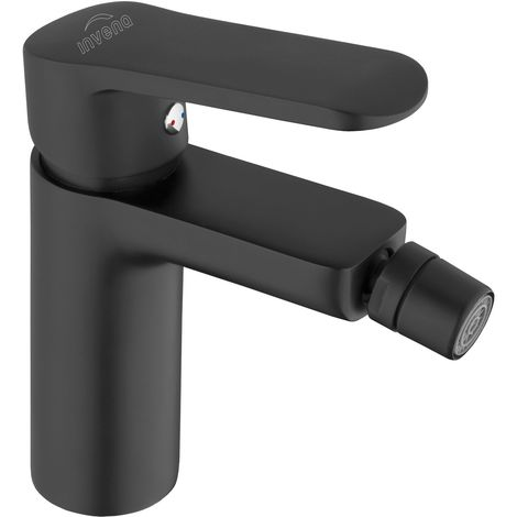 Bathroom Bidet Standing Faucet Mixer Single Lever Tap Black Powder Coated Brass
